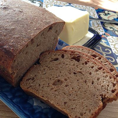 Wholegrain Wheat-Rye Bread with Bran